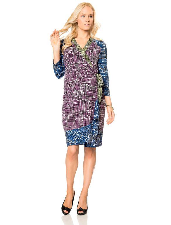 BCBGMAXAZRIA Adele Maternity Dress- Violet, Violeta