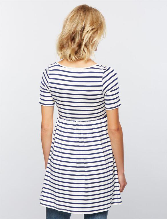 Rachel Pally Marcelle Maternity Tunic, Stripe White/Blue