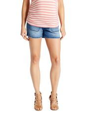 Jessica Simpson Secret Fit Belly Patch Pocket Maternity Shorts, Medium Wash