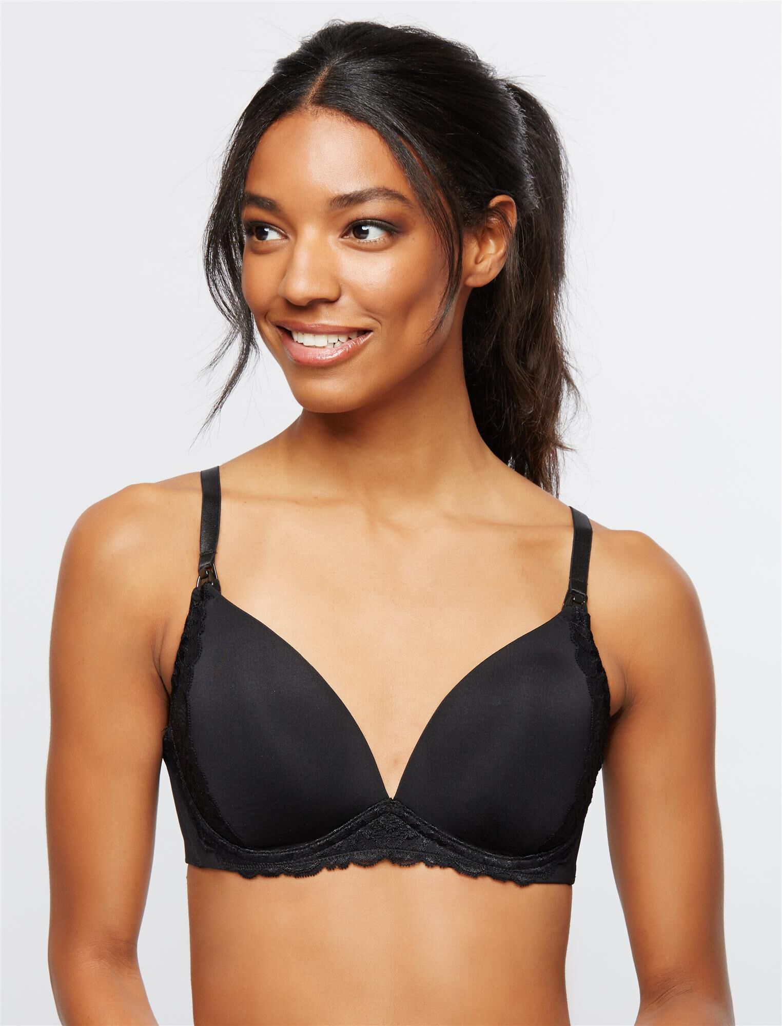 Wireless Lace Trimmed Nursing Bra