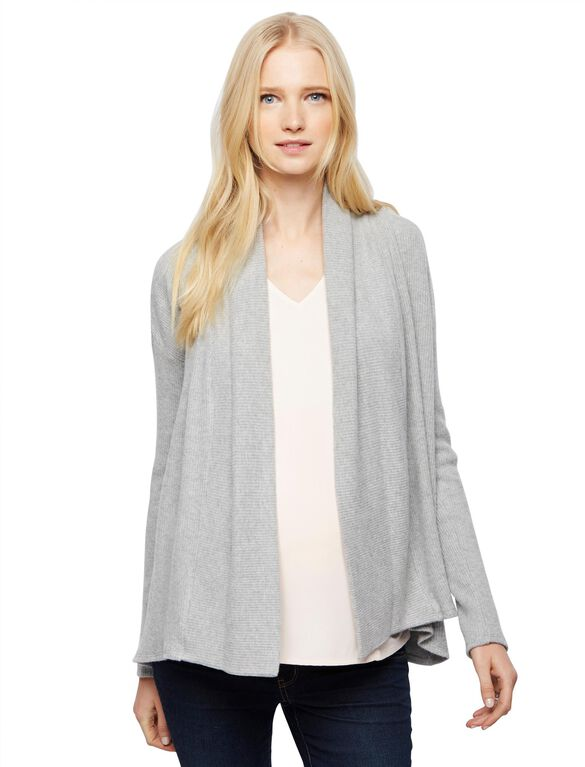 Super Soft Maternity Cardigan, Grey