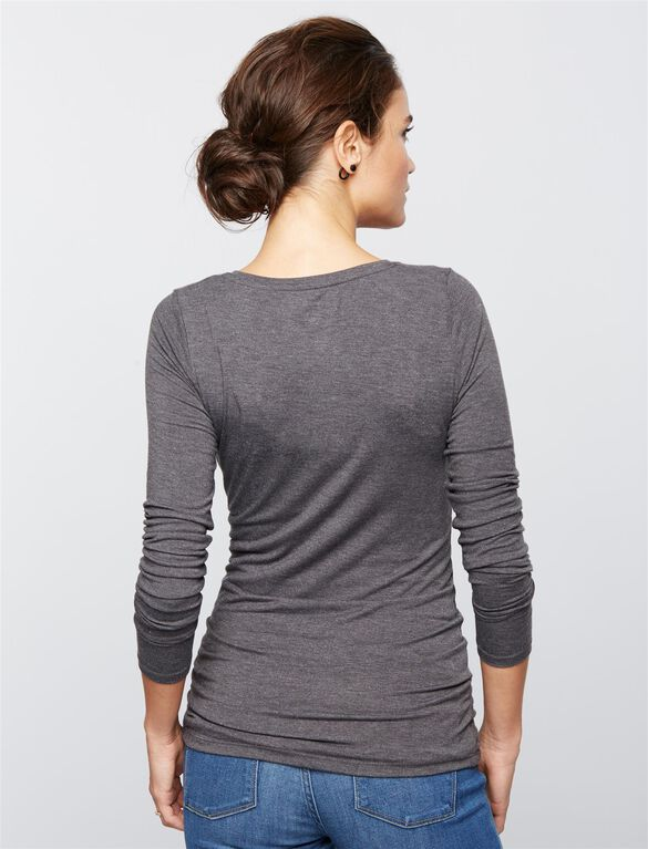 Layering Maternity Top, Heather Grey