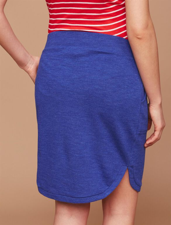 Under Belly A-line Maternity Skirt, Blue