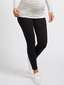 Secret Fit Belly Skinny Maternity Ankle Jeggings, Black