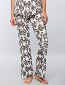 Bow Detail Maternity Sleep Pants, Damask Floral
