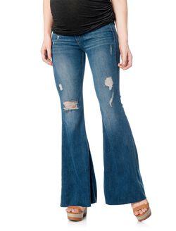 Mcguire Secret Fit Belly Skinny Flare Maternity Jeans, Oceana Medium Wash