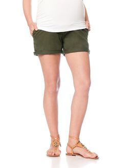 Joe's Jeans Secret Fit Belly 5 Pocket Maternity Shorts, Olive
