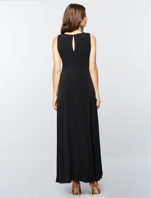 Draped Maternity Gown- Black, Core Black