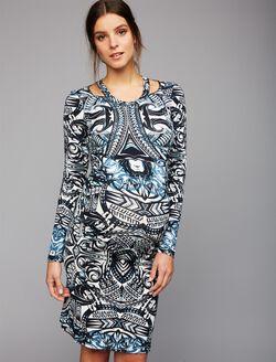 Nicole Miller Pre & Post Pregnancy Maternity Dress, Print