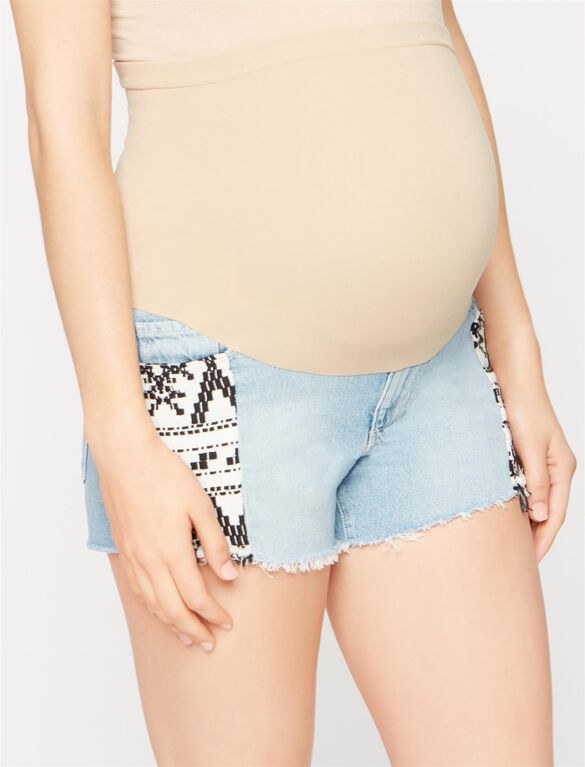 Paige Secret Fit Belly Fray Hem Maternity Shorts, Mayan Piecing