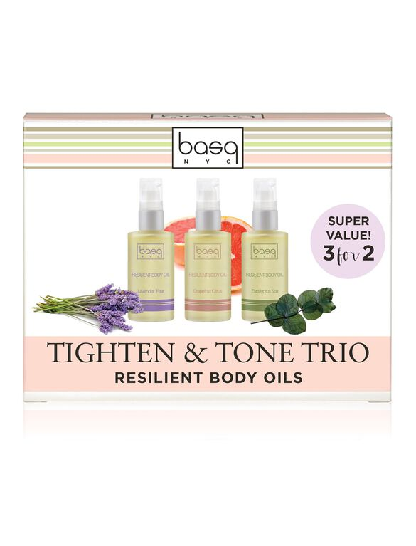 Basq Resilient Body Stretch Mark Oil Value Set, Lav/ Euc/ Cit