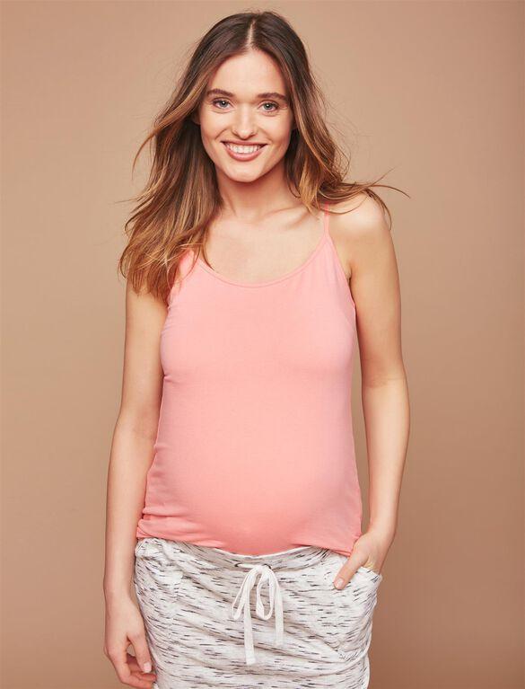 Maternity Tank Top, Salmon Rose
