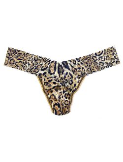Hanky Panky Lace Low Rise Thong, Leopard