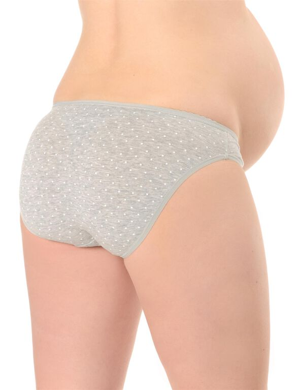 Maternity Bikini Panties (5 Pack), Pink Grey Stripe