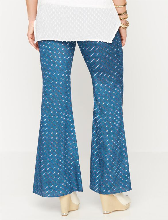 Rachel Zoe Secret Fit Belly Cotton Wide Leg Maternity Pants, Print