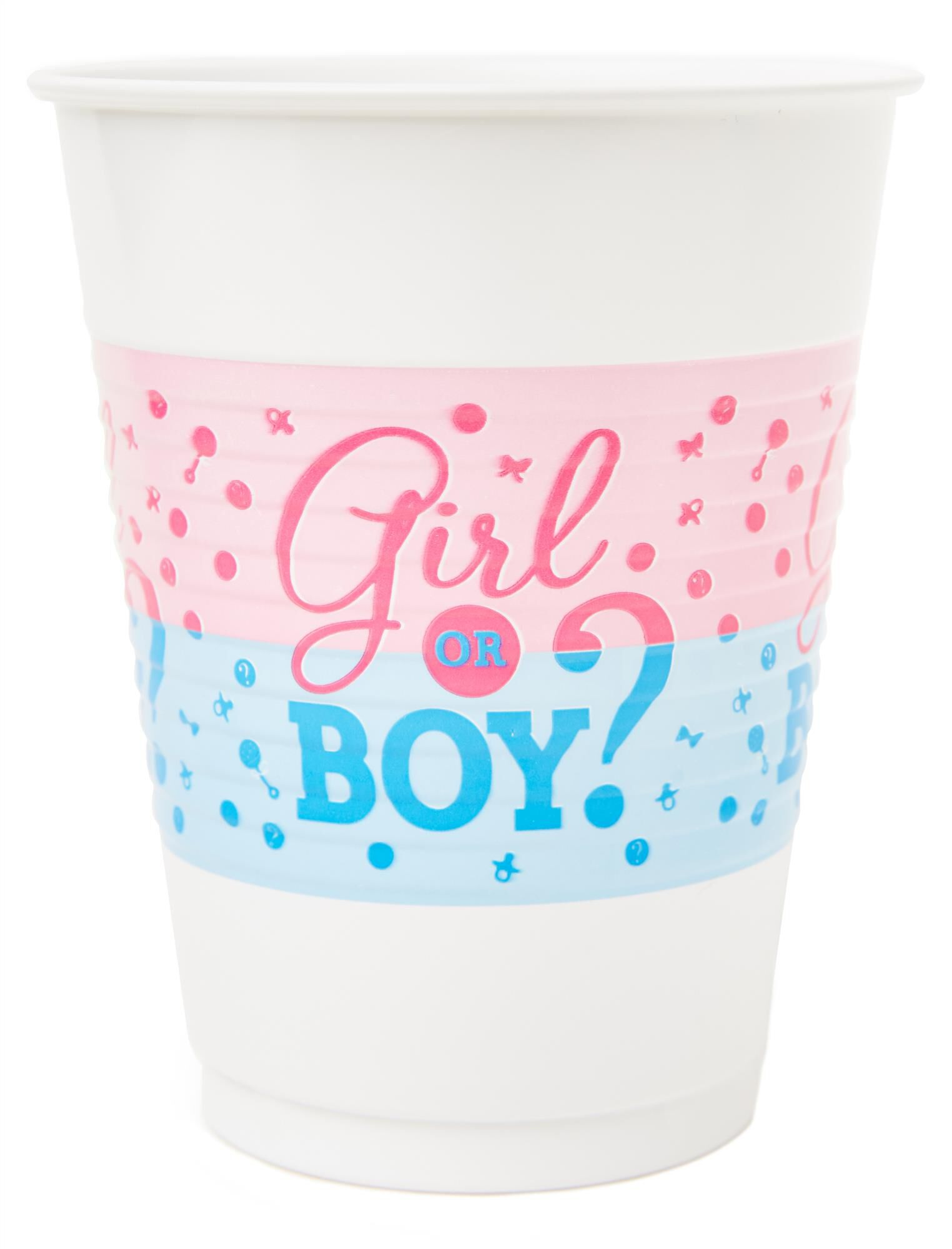 Girl or Boy Gender Reveal Plastic Party Cups