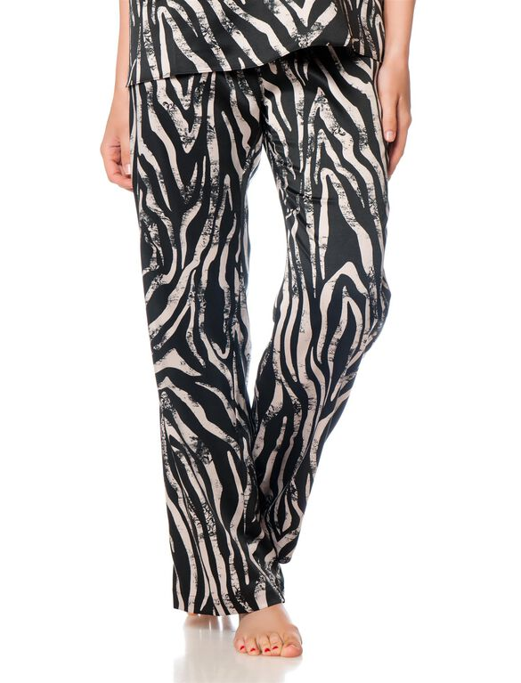 Drawstring Maternity Sleep Pant, Zebra Print