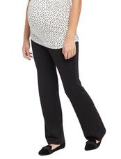 Secret Fit Belly Ponte Boot Cut Maternity Pants, Black