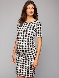 Isabella Oliver Houndstooth Maternity Dress, Houndstooth