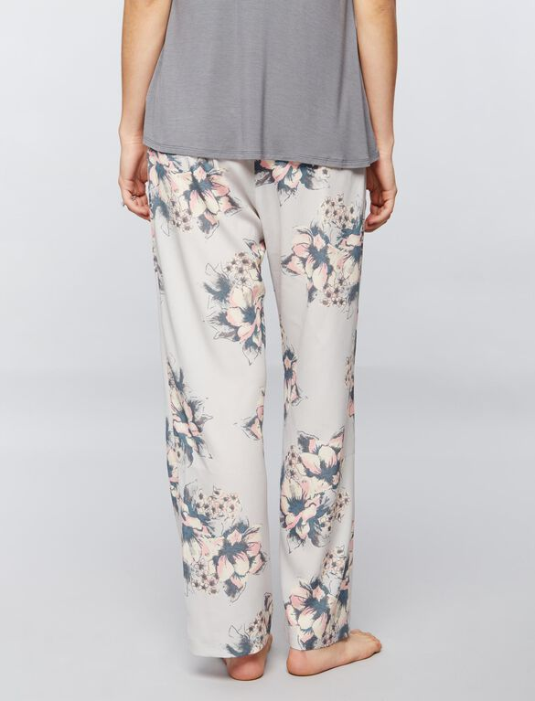 Pretty Soft Floral Maternity Sleep Pant, Floral Print