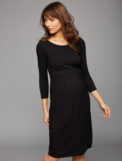 Isabella Oliver Ivybridge Maternity Dress- Black, Caviar Black