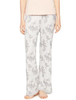 Lace Trim Maternity Sleep Pants- Paisley, Paisley