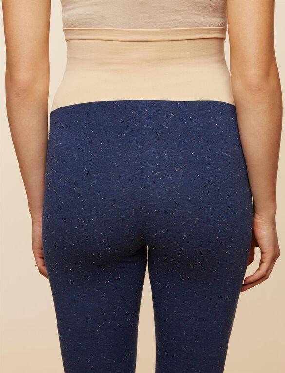 Secret Fit Belly Speckled Maternity Leggings, Navy Speckle