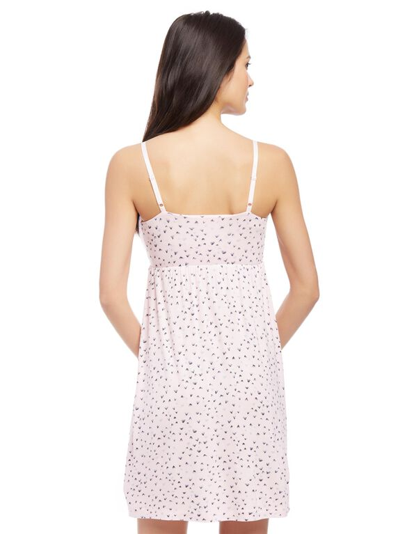 Bump in the Night Nursing Nightgown- Heart Print, Heart Print