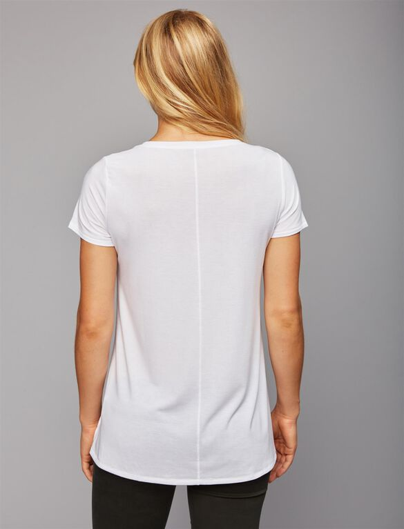 But First...PICKLES Maternity Tee, White