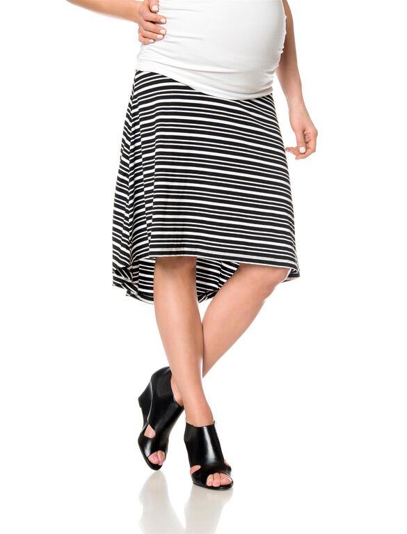 A-line Maternity Skirt, Black/White