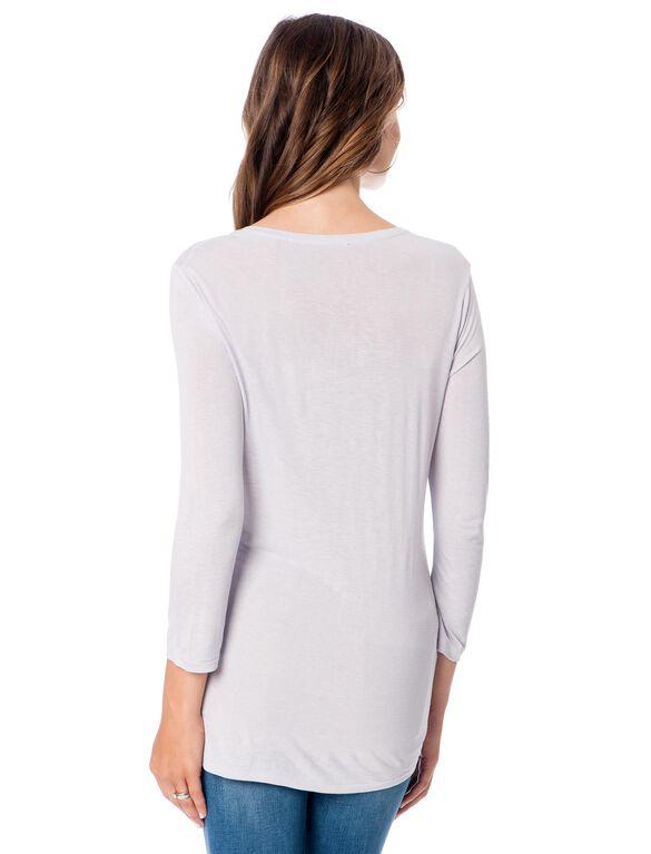 Vince Linen Blend Maternity T Shirt, Lavender