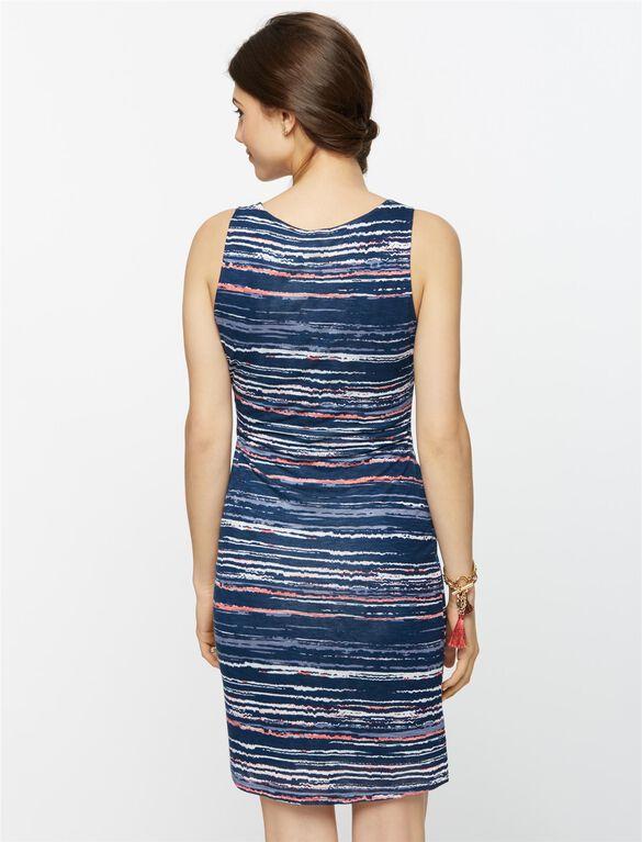 Splendid Scoop Neck Maternity Dress, Navy Multi
