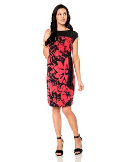 Tie Detail Maternity Dress, Watermelon/Black