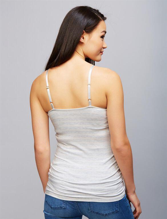 Luxe Clip Down Nursing Cami- Stripe, Ivory Stripe
