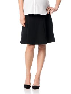 Secret Fit Belly Fit And Flare Maternity Skirt, Black