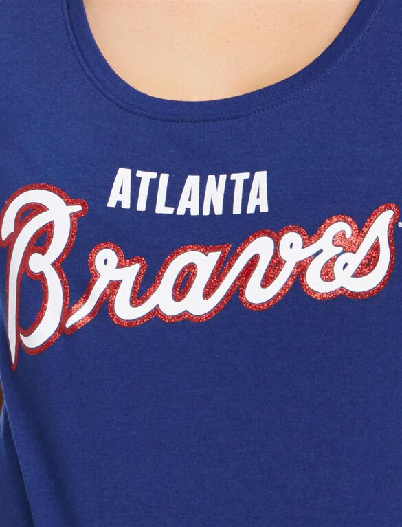 Atlanta Braves MLB You're Out Maternity Tee, Braves Navy