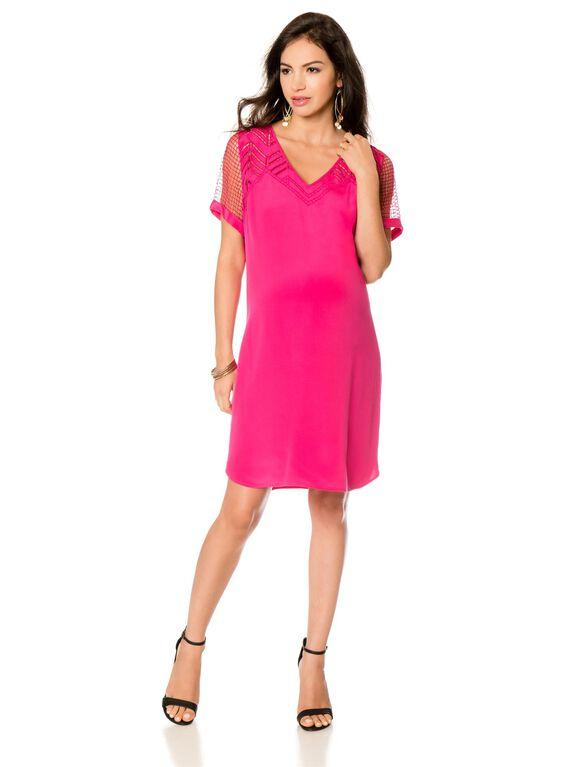 Rebecca Minkoff Silk Maternity Dress, Pink