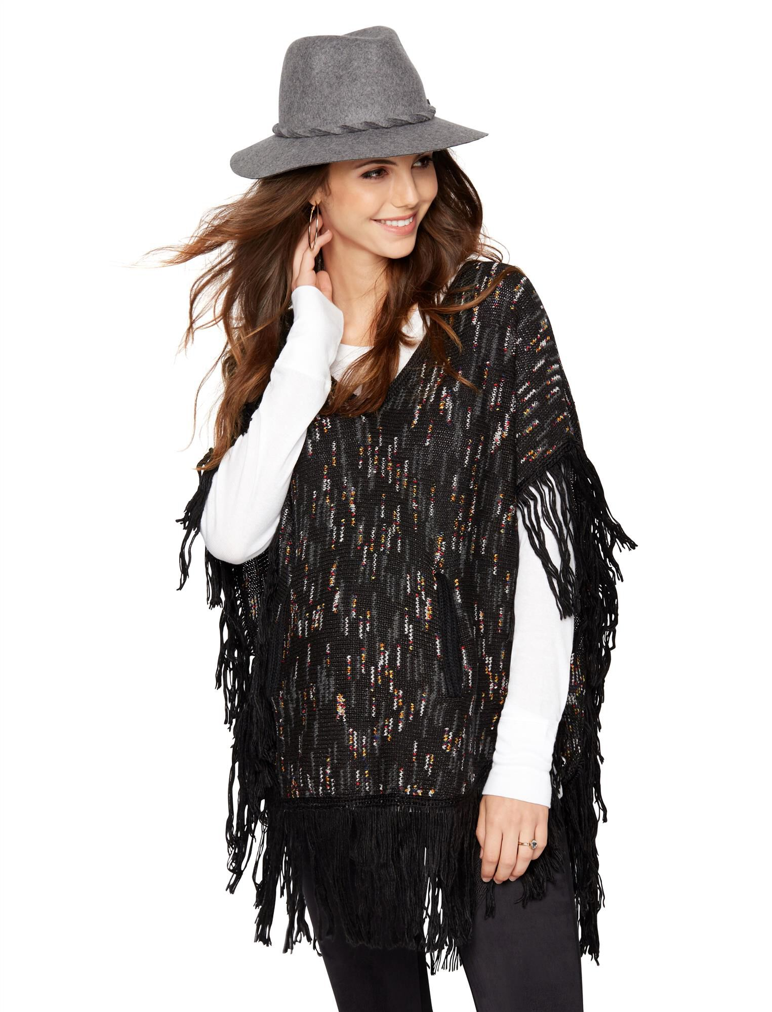 Ella Moss Poncho Maternity Sweater