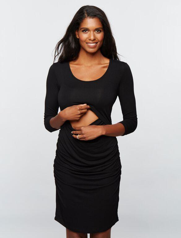 Ripe Lift Up Super Soft Nursing Dress- Black, Black