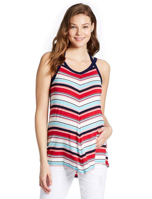 Jessica Simpson Swing Maternity Tank Top, Multi Striped