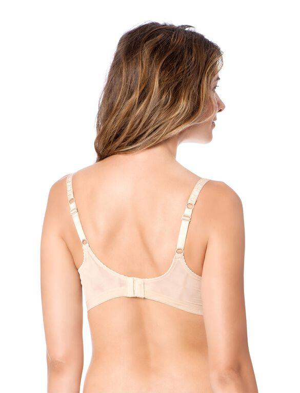 Heidi Klum Intimates Wireless Lace Nursing Bra, Nude
