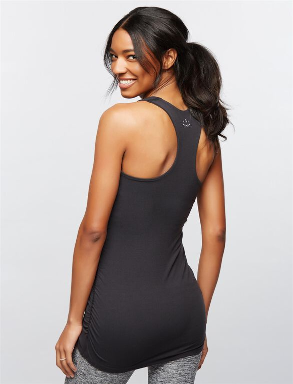 Beyond The Bump Racerback Maternity Tank Top, Black