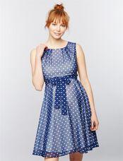 Pietro Brunelli Tamigi Maternity Dress, Blu/Wht Polkadot