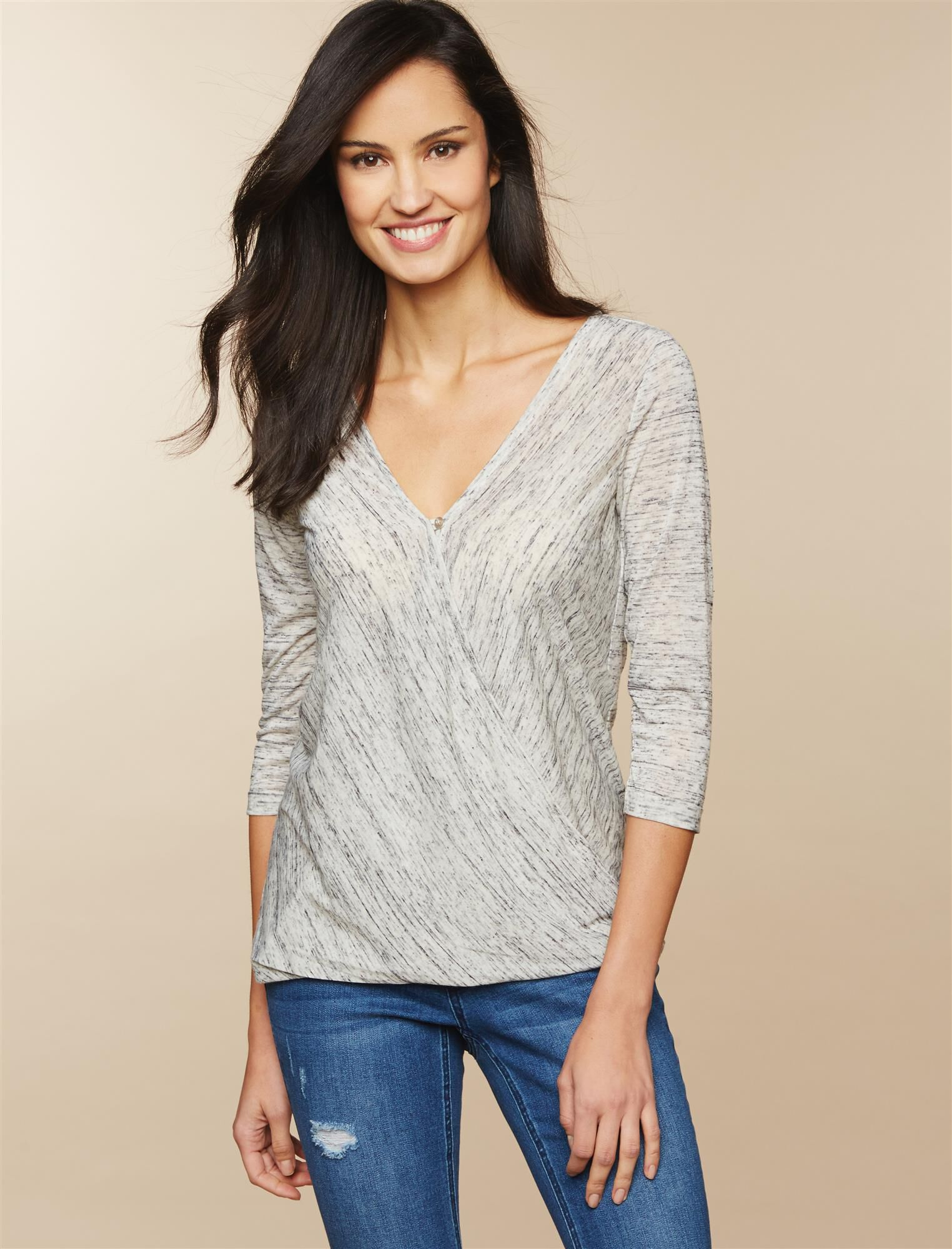 Jessica Simpson Pull Over Wrap Nursing Top