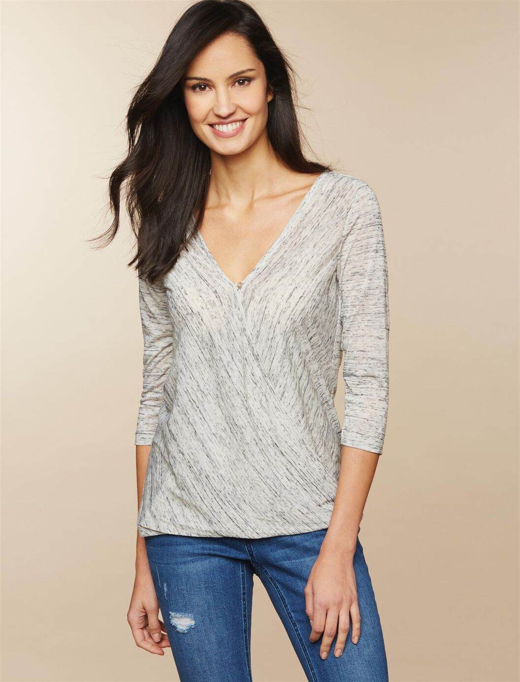 Jessica Simpson Pull Over Wrap Nursing Top at Motherhood Maternity in Victor, NY | Tuggl