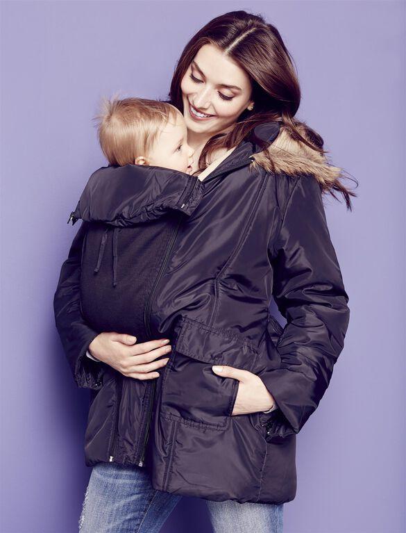 Modern Eternity 3 In 1 Maternity Puffer Coat, Black