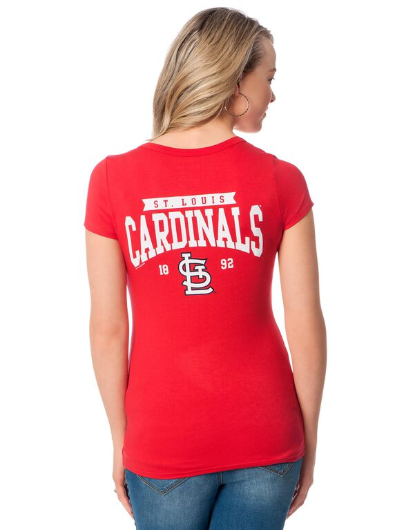 St. Louis Cardinals MLB Short Sleeve Maternity Graphic Tee, Cardinals
