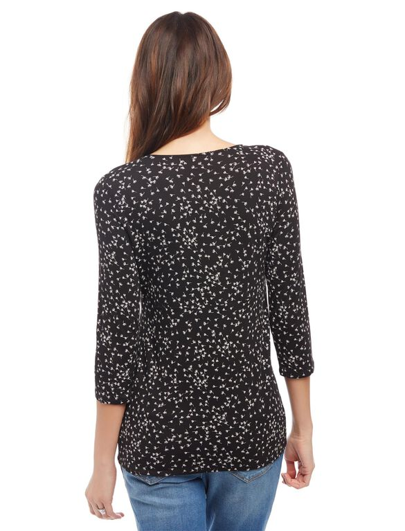 Pull Down Empire Seam Maternity Shirt- Wish Print, Wish Print