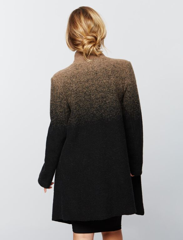 BB Dakota Wrap Wool Maternity Jacket, Black/Brown