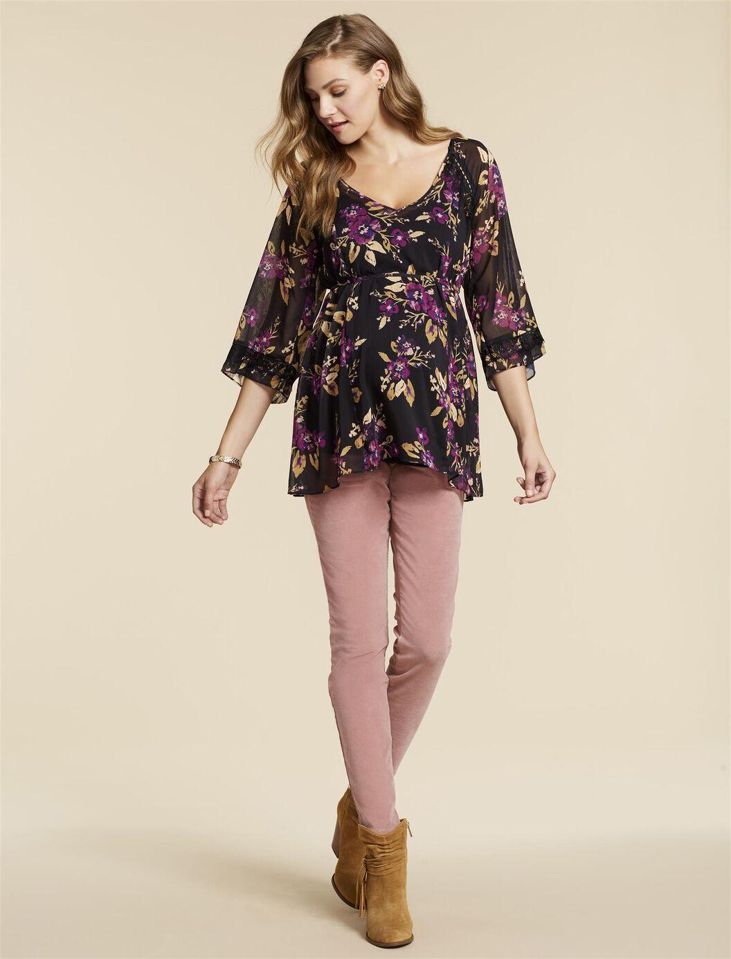 Jessica Simpson Secret Fit Belly Corduroy Skinny Leg Maternity Pants at Motherhood Maternity in Victor, NY | Tuggl